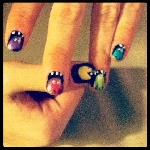 Pac Man nail art design