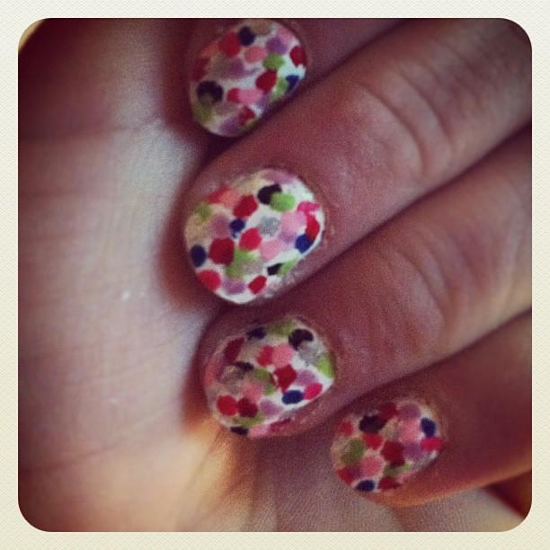Confetti Nails #nails #beauty